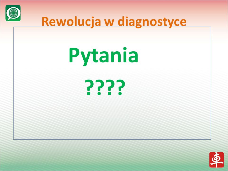 Pytania ???? Rewolucja w diagnostyce