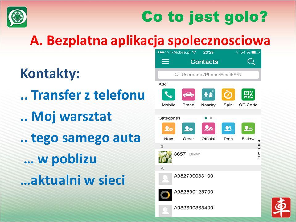 A. Bezplatna aplikacja spolecznosciowa Kontakty:..
