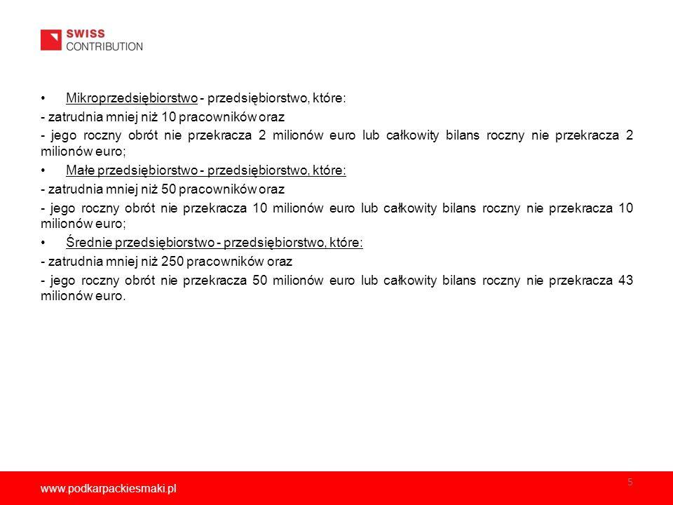 www.podkarpackiesmaki.pl 16 Podstawowe definicje (VII) Partner – podmiot, który wspólnie z Wnioskodawcą realizuje zadania.