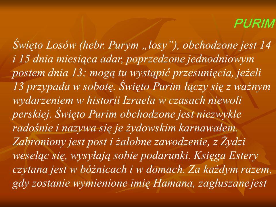 PURIM Święto Losów (hebr.