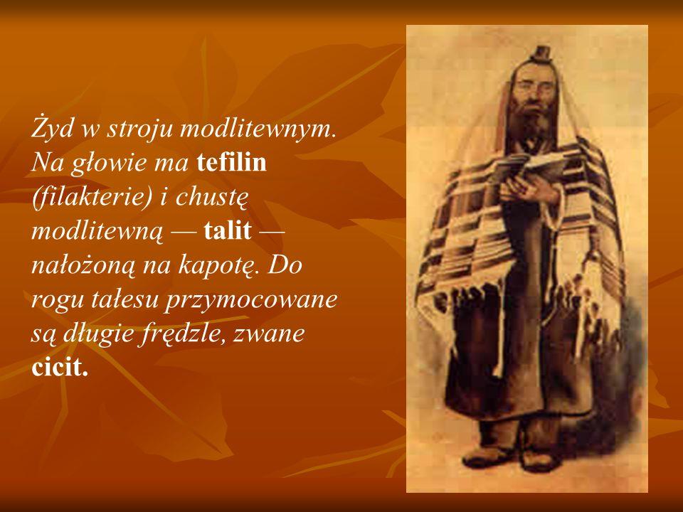 Żyd w stroju modlitewnym.