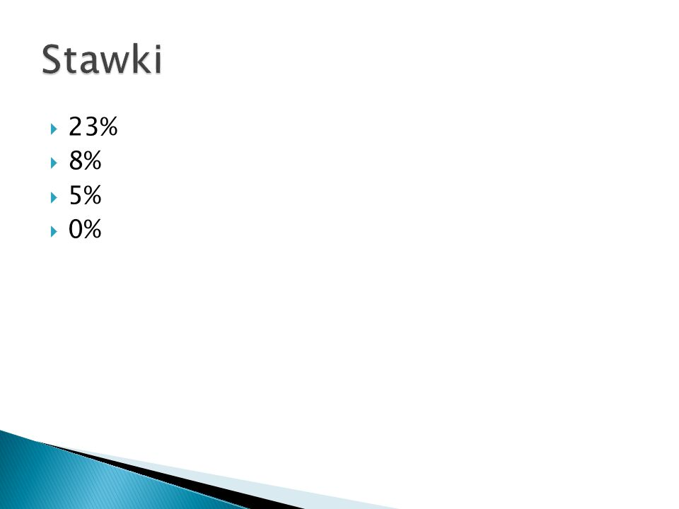  23%  8%  5%  0%