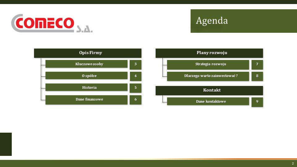 2 Opis Firmy O spółce HistoriaHistoria Dane finansowe Strategia rozwoju 44 55 66 77 Dlaczego warto zainwestować .