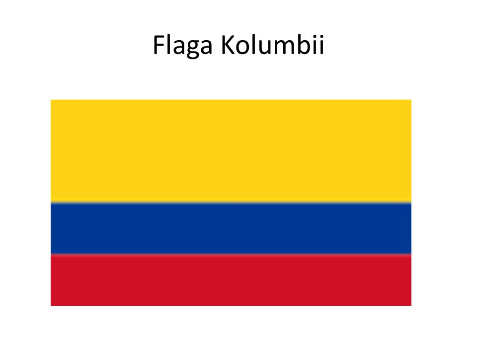 Flaga Kolumbii
