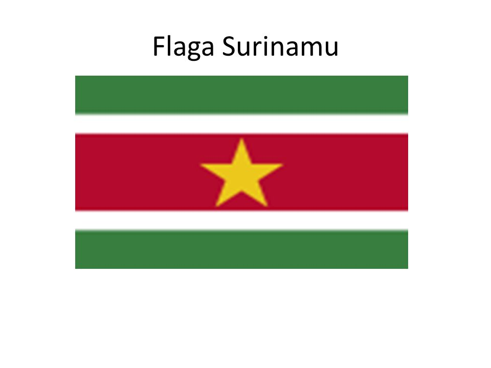 Flaga Surinamu