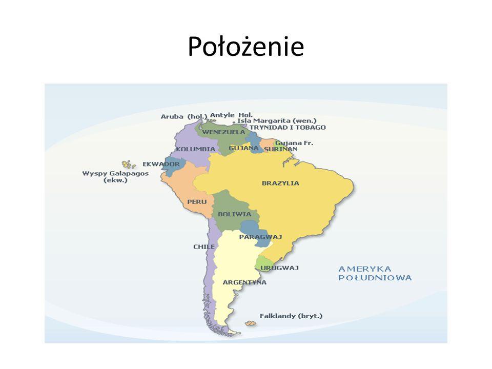 chile położone jest w południowo-zachodniej części Ameryki Południowej i rozciąga się wąskim pasem wzdłuż wybrzeża o długości 4,3 tys.