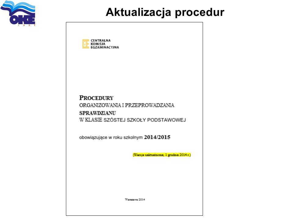 Aktualizacja procedur
