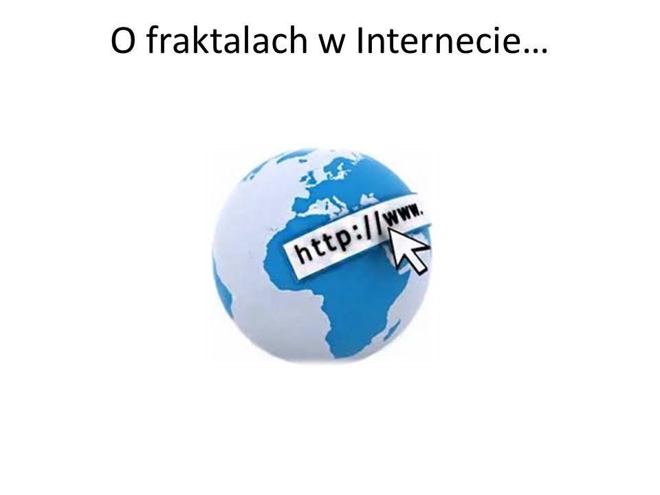 O fraktalach w Internecie…