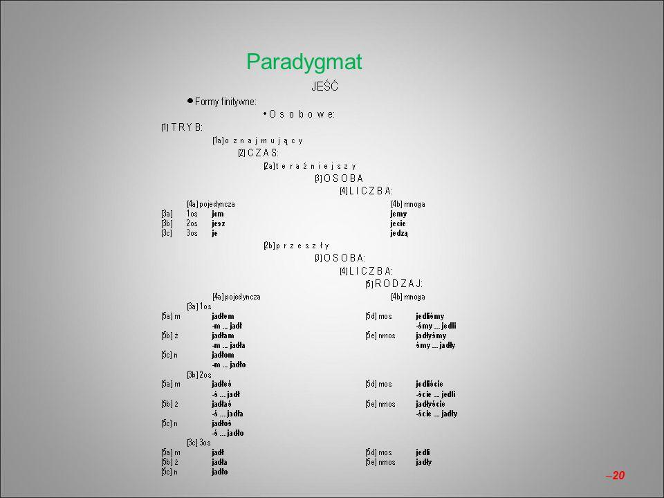 Paradygmat –20