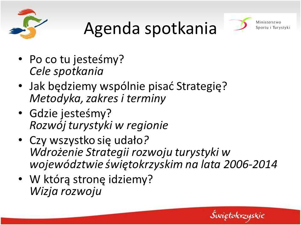 Agenda spotkania Po co tu jesteśmy? Cele spotkania Jak będziemy wspólnie pisać Strategię? Metodyka, zakres i terminy Gdzie jesteśmy? Rozwój turystyki