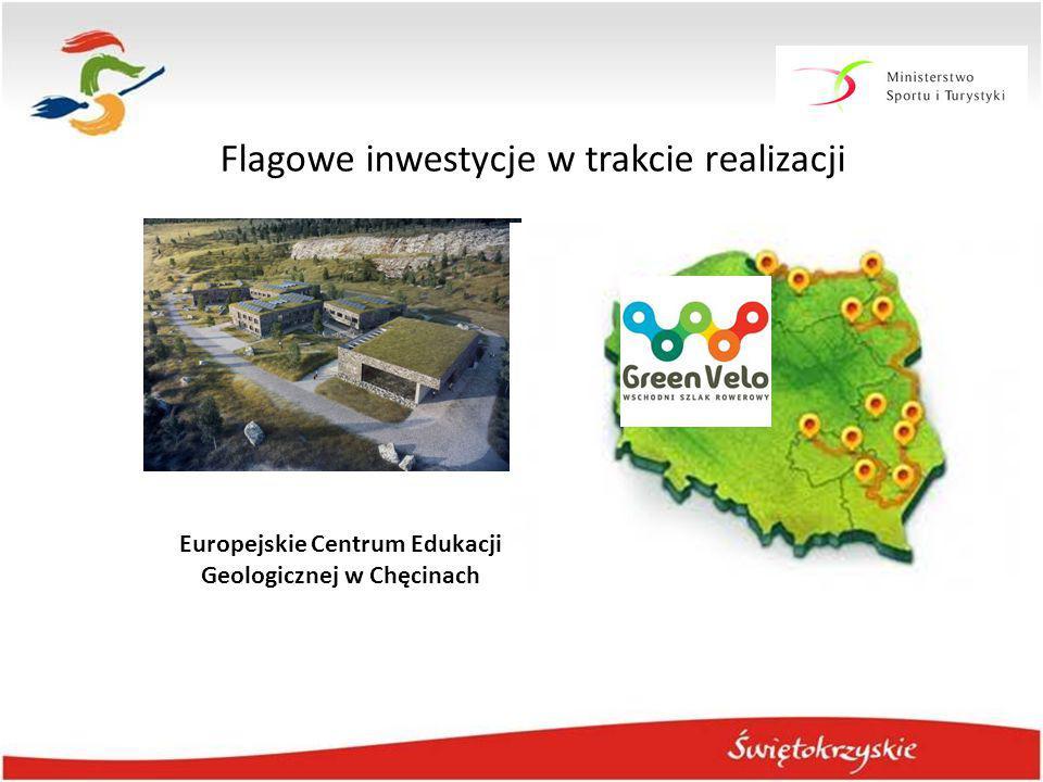 Flagowe inwestycje w trakcie realizacji Europejskie Centrum Edukacji Geologicznej w Chęcinach