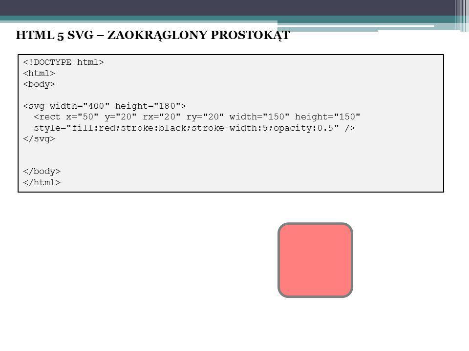 HTML 5 SVG – ZAOKRĄGLONY PROSTOKĄT