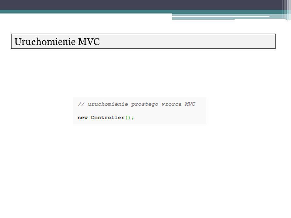 Uruchomienie MVC