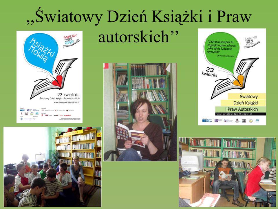 ,,Światowy Dzień Książki i Praw autorskich''