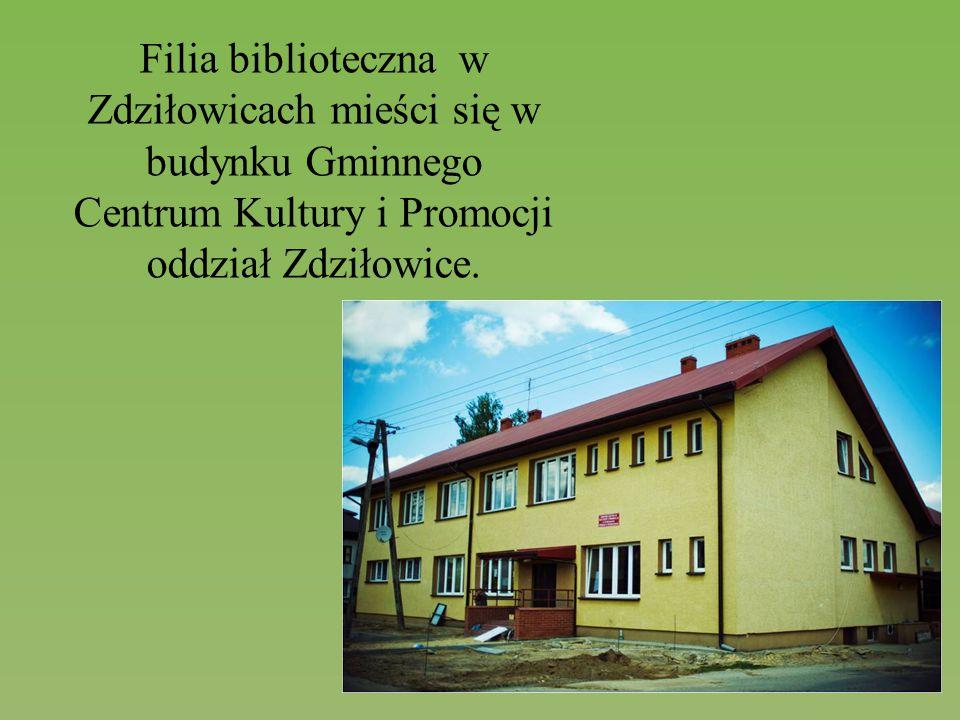 Filia biblioteczna w Zdziłowicach mieści się w budynku Gminnego Centrum Kultury i Promocji oddział Zdziłowice.