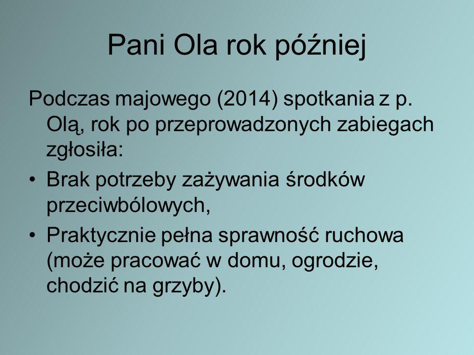 Pani Ola rok później Podczas majowego (2014) spotkania z p.