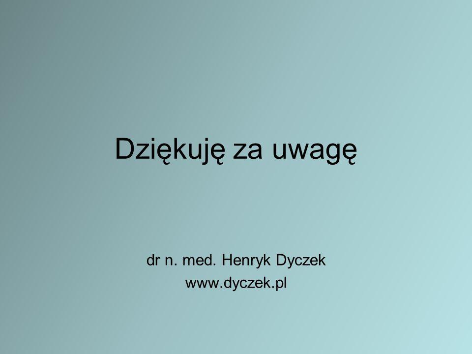Dziękuję za uwagę dr n. med. Henryk Dyczek www.dyczek.pl