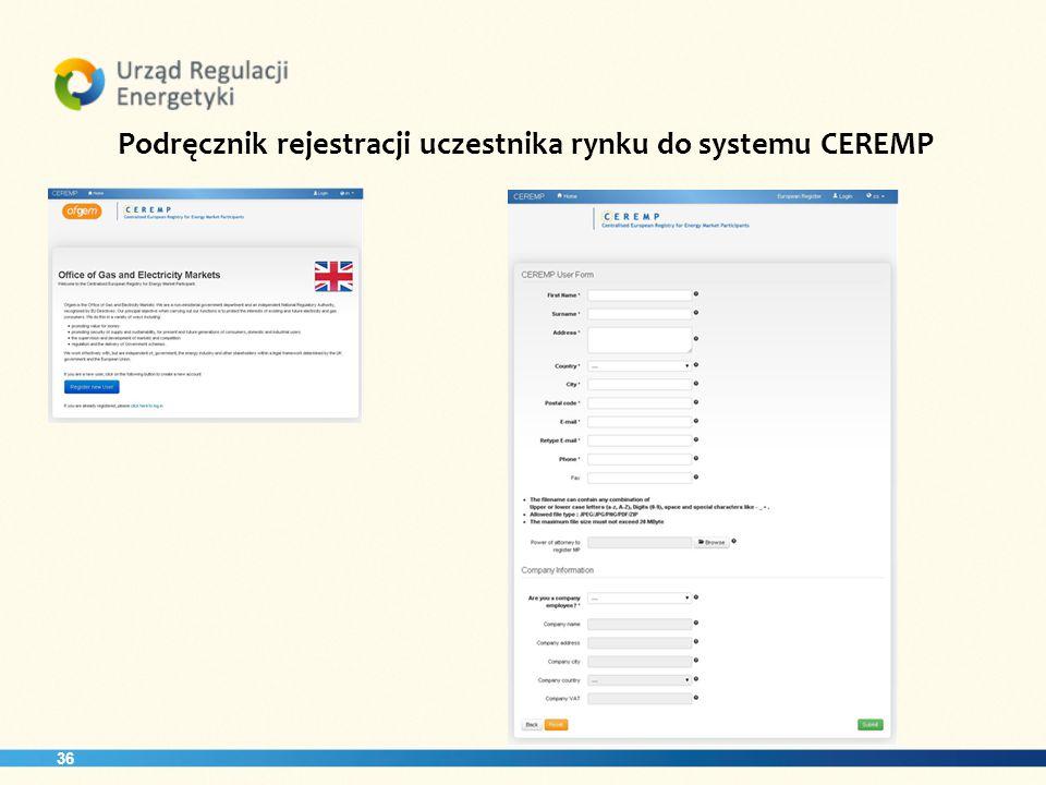 36 Podręcznik rejestracji uczestnika rynku do systemu CEREMP