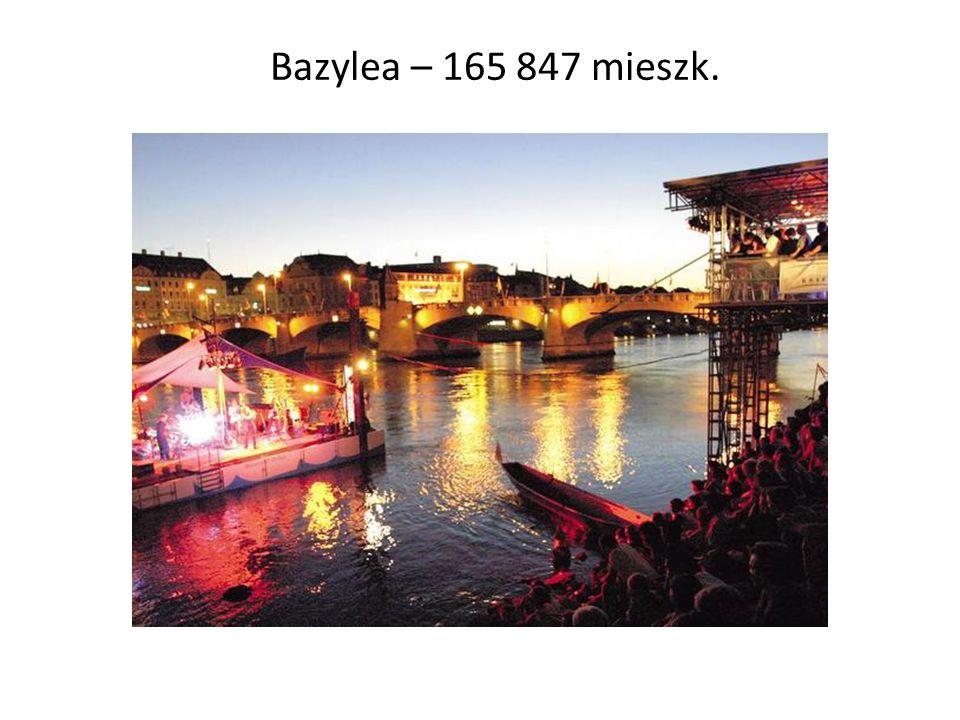 Bazylea – 165 847 mieszk.