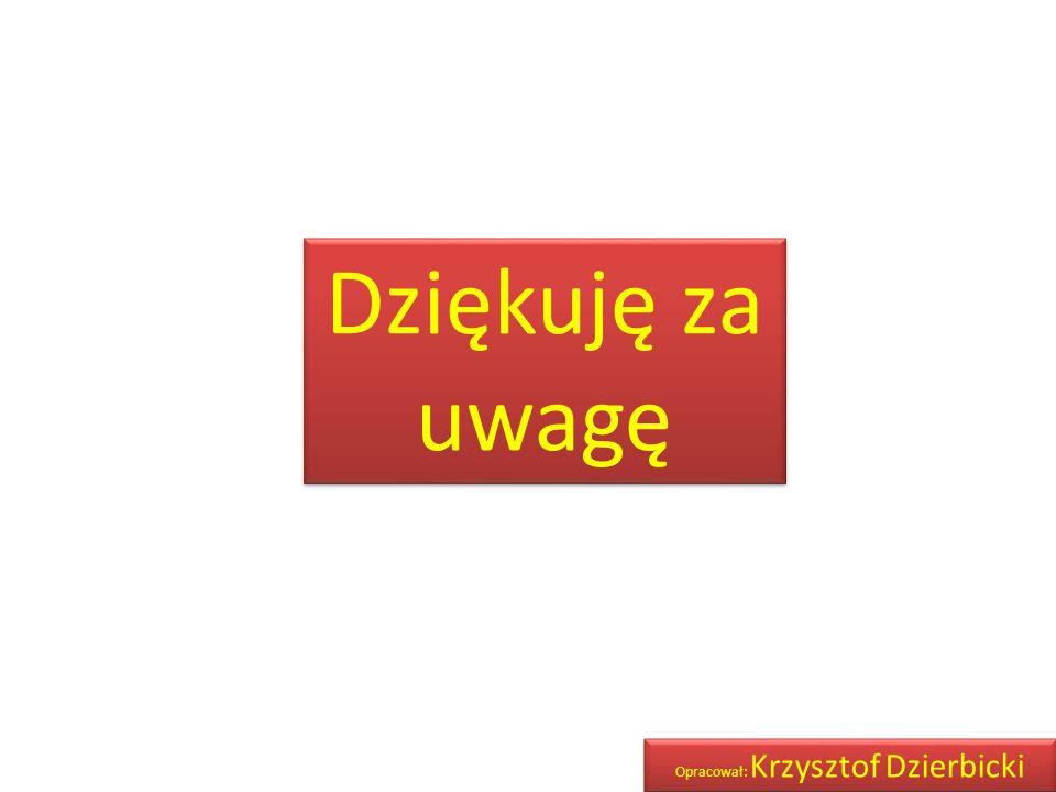 Dziękuję za uwagę Opracował: Krzysztof Dzierbicki