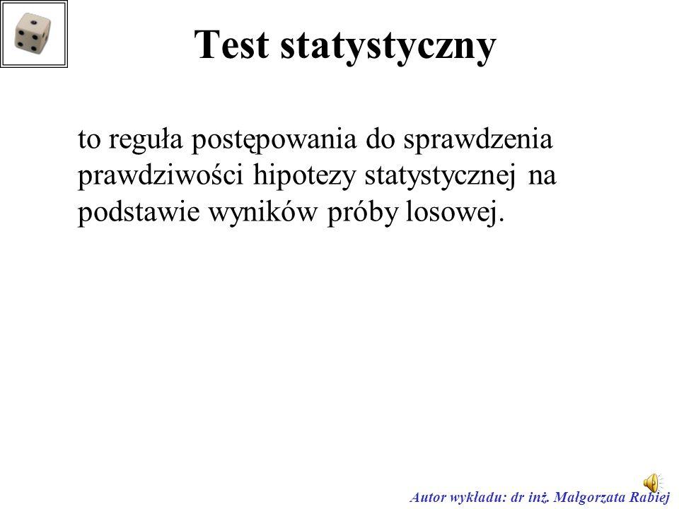 Testowanie hipotez statystycznych
