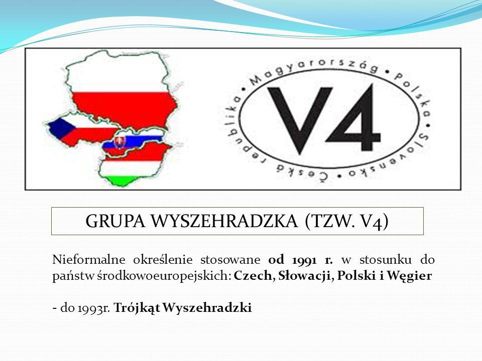 Nieformalne określenie stosowane od 1991 r. w stosunku do państw środkowoeuropejskich: Czech, Słowacji, Polski i Węgier - do 1993r. Trójkąt Wyszehradz