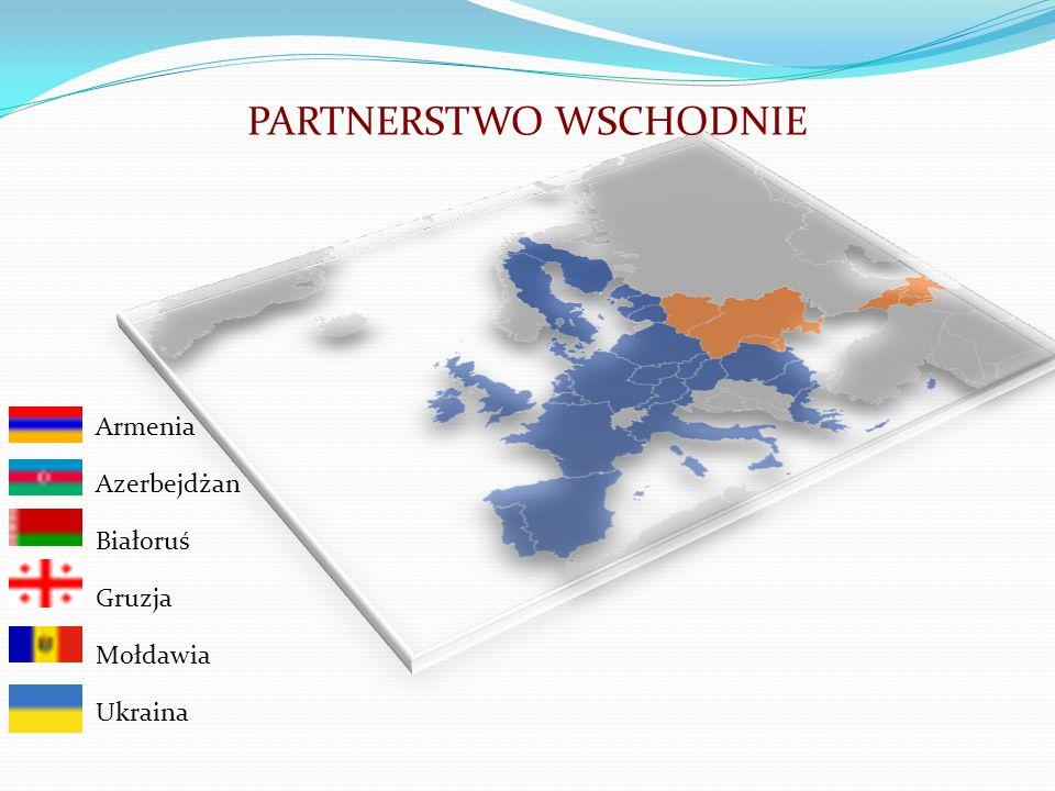 PARTNERSTWO WSCHODNIE Armenia Azerbejdżan Białoruś Gruzja Mołdawia Ukraina