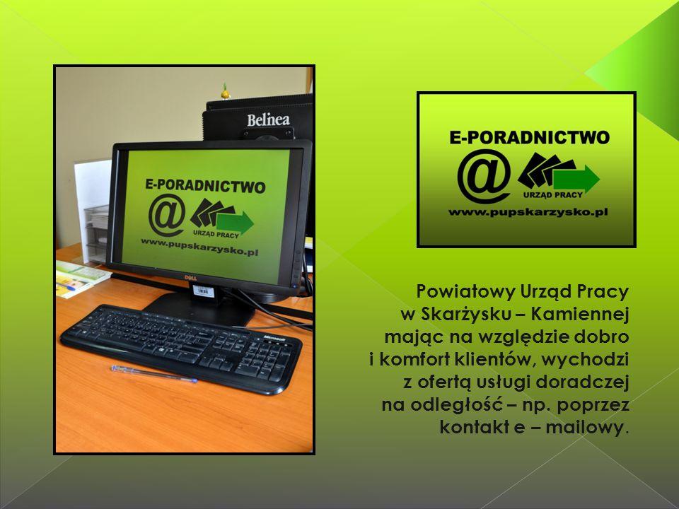 Powiatowy Urząd Pracy w Skarżysku – Kamiennej mając na względzie dobro i komfort klientów, wychodzi z ofertą usługi doradczej na odległość – np.