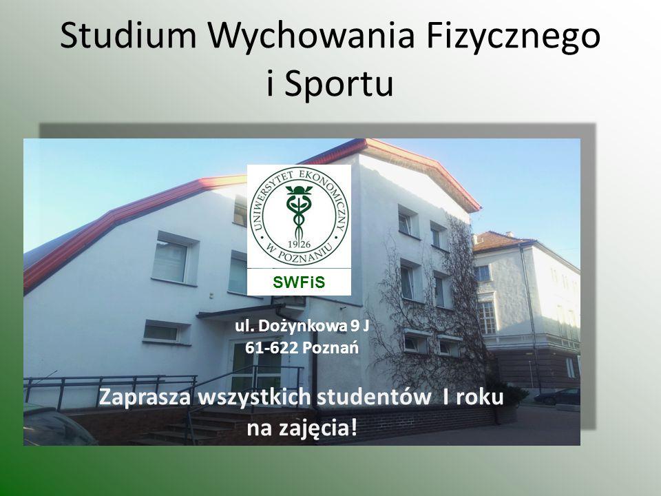 Studium Wychowania Fizycznego i Sportu ul.
