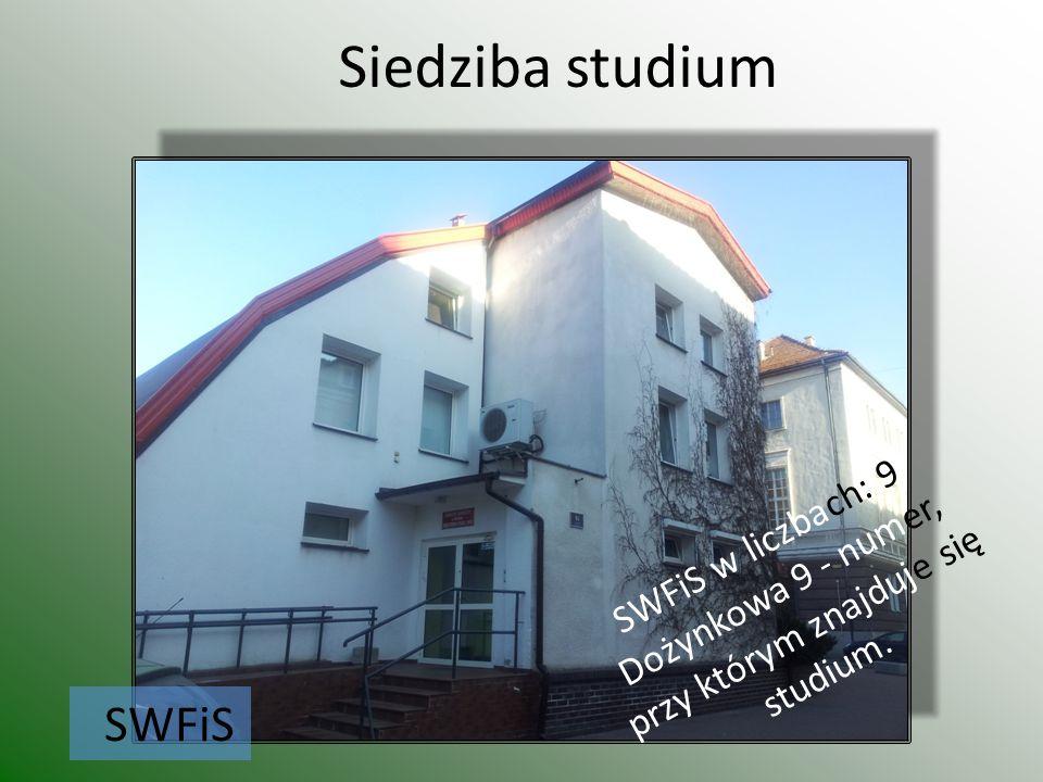 Siedziba studium SWFiS SWFiS w liczbach: 9 Dożynkowa 9 - numer, przy którym znajduje się studium.
