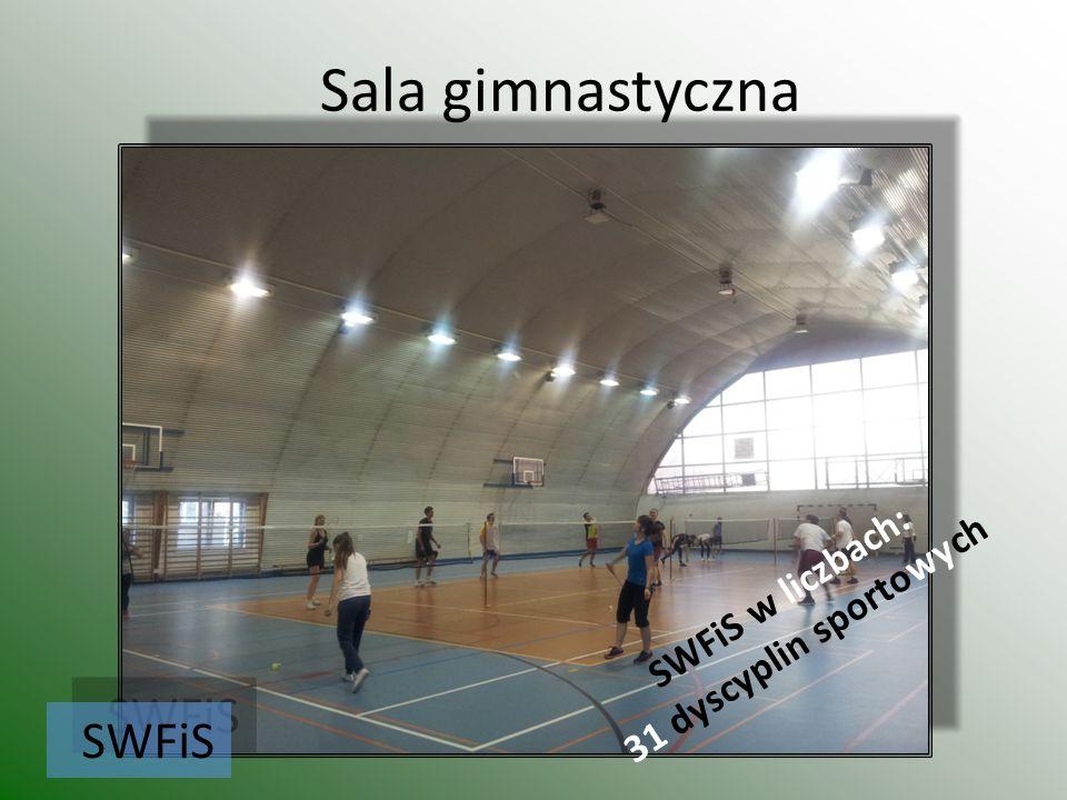 Sala gimnastyczna SWFiS SWFiS w liczbach: 31 dyscyplin sportowych