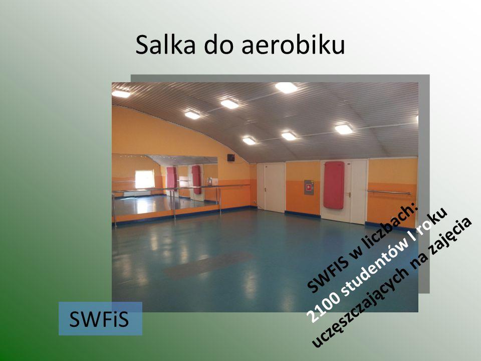 Salka do aerobiku SWFiS SWFIS w liczbach: 2100 studentów I roku uczęszczających na zajęcia