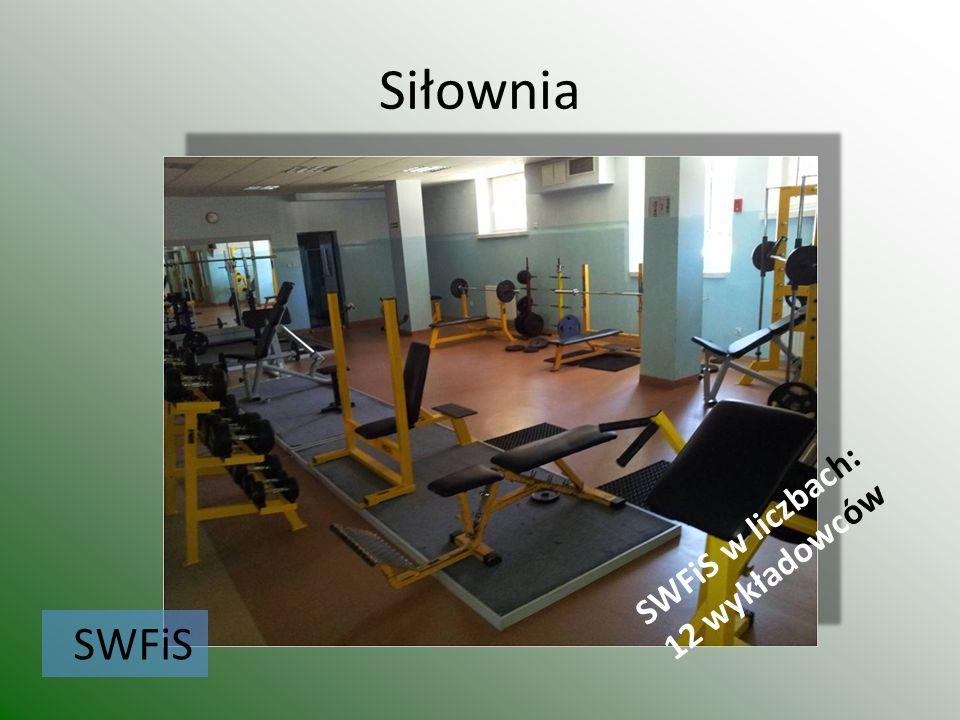 Siłownia SWFiS SWFiS w liczbach: 12 wykładowców
