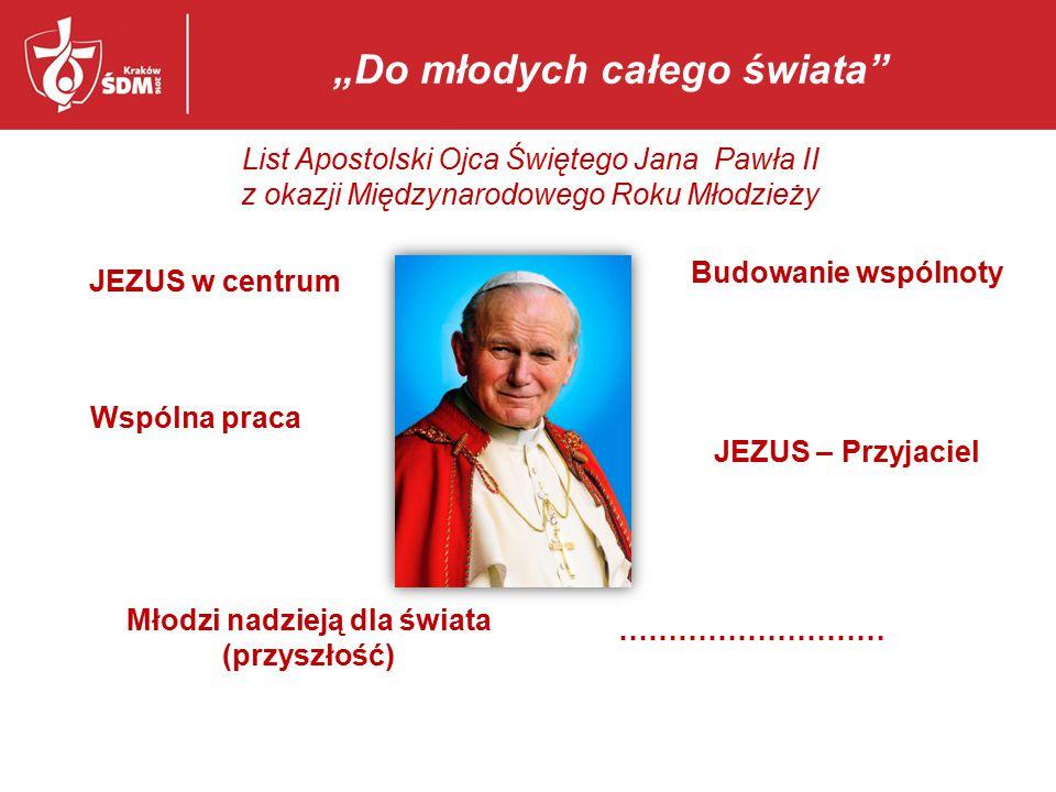 """Krzyż Pielgrzymujący – od jednego po miliony """"Do młodych całego świata List Apostolski Ojca Świętego Jana Pawła II z okazji Międzynarodowego Roku Młodzieży"""