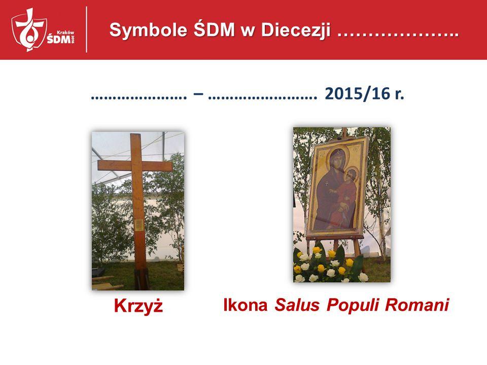 Krzyż Ikona Salus Populi Romani Symbole ŚDM w Polsce 13 kwietnia 2014 – 31 lipca 2016 r.