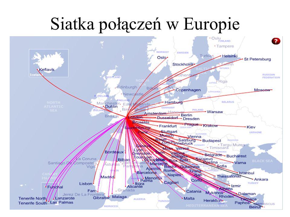 Siatka połączeń w Europie