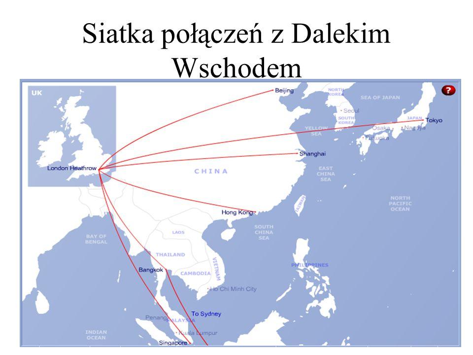 Siatka połączeń z Dalekim Wschodem