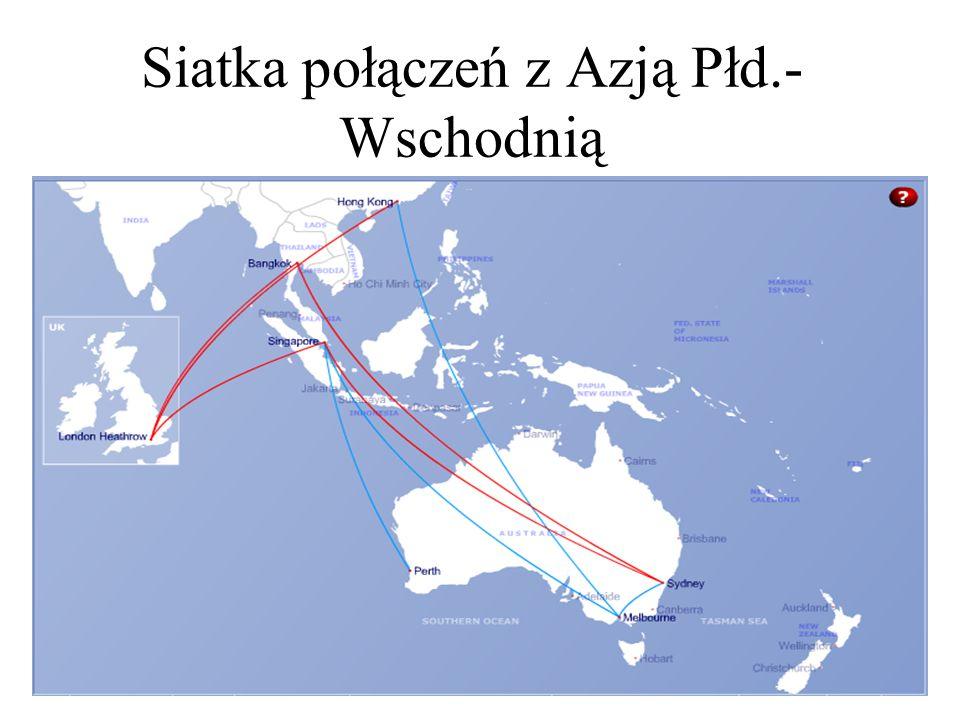 Siatka połączeń z Azją Płd.- Wschodnią