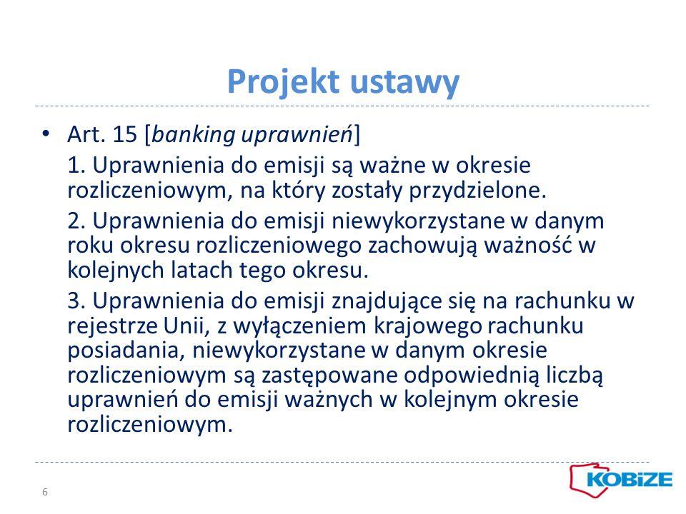 Projekt ustawy Wydawanie uprawnień art.16 ust.