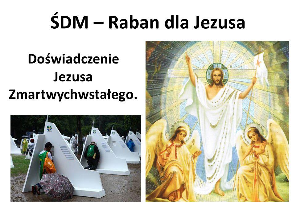 ŚDM – Raban dla Jezusa Doświadczenie Jezusa Zmartwychwstałego.