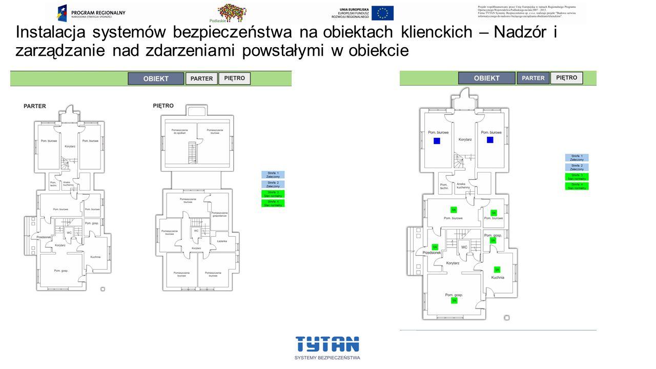 Instalacja systemów bezpieczeństwa na obiektach klienckich – Nadzór i zarządzanie nad zdarzeniami powstałymi w obiekcie