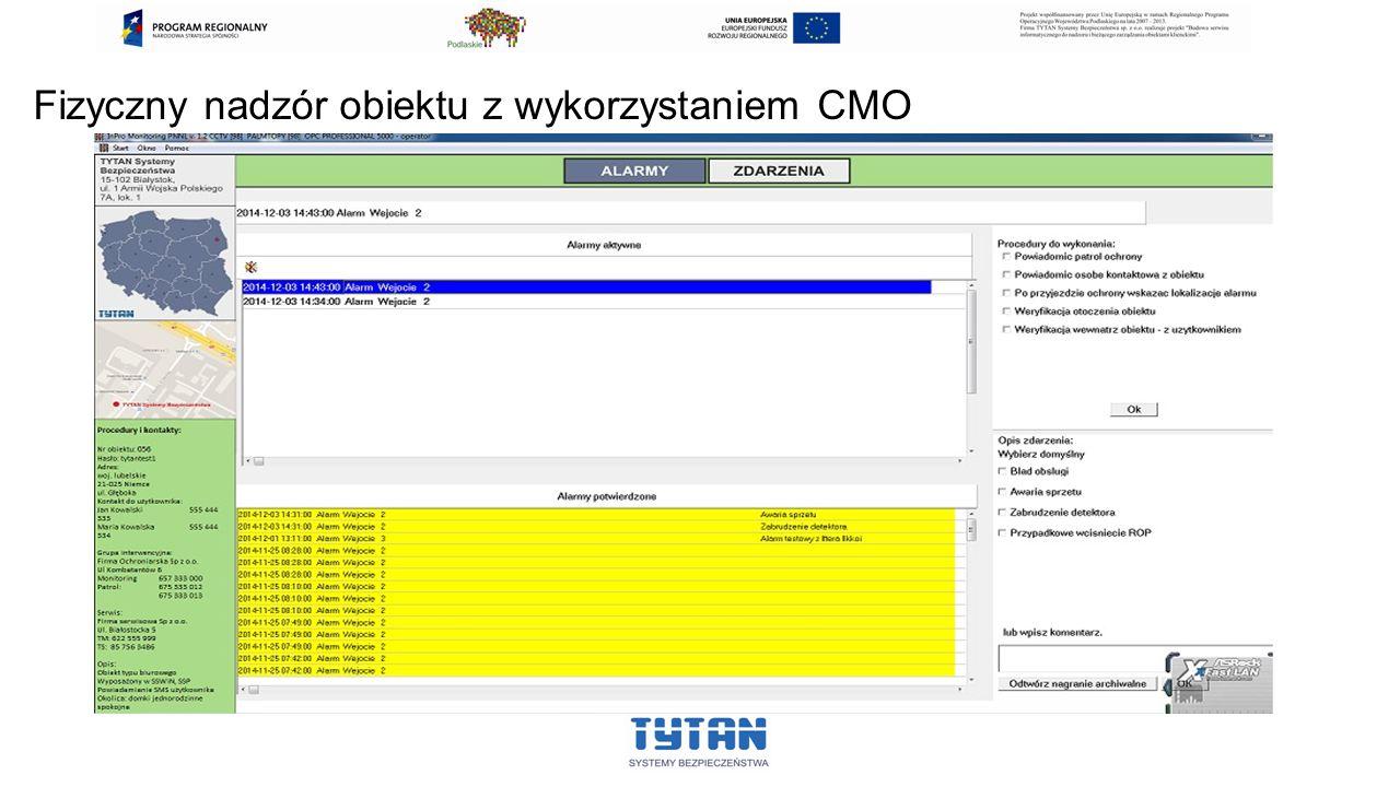 Fizyczny nadzór obiektu z wykorzystaniem CMO