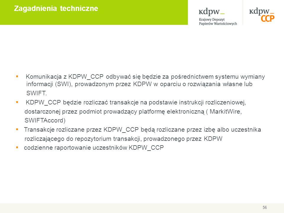  Komunikacja z KDPW_CCP odbywać się będzie za pośrednictwem systemu wymiany informacji (SWI), prowadzonym przez KDPW w oparciu o rozwiązania własne l