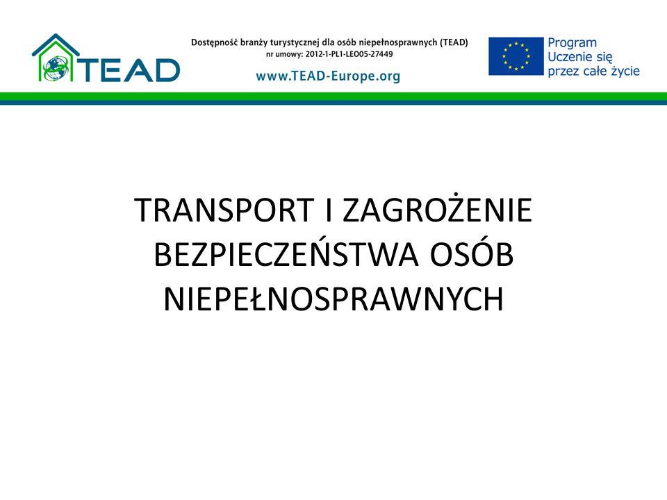 Dostępność transportu a jakość usług turystycznych Przygotowując ofertę turystyczną albo realizując ją dla klienta ze specjalnymi potrzebami warto wiedzieć o pewnych rozwiązaniach związanych z transportem Ułatwi to a nawet czasem umożliwi to zrealizowanie jej na właściwym poziomie