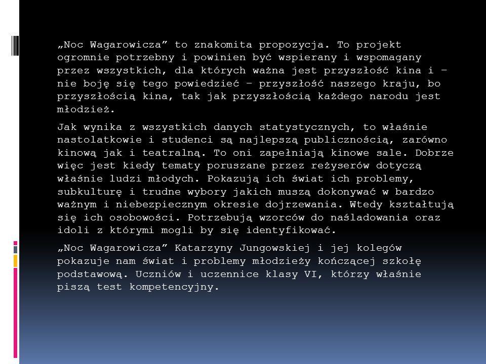 """""""Noc Wagarowicza to znakomita propozycja."""