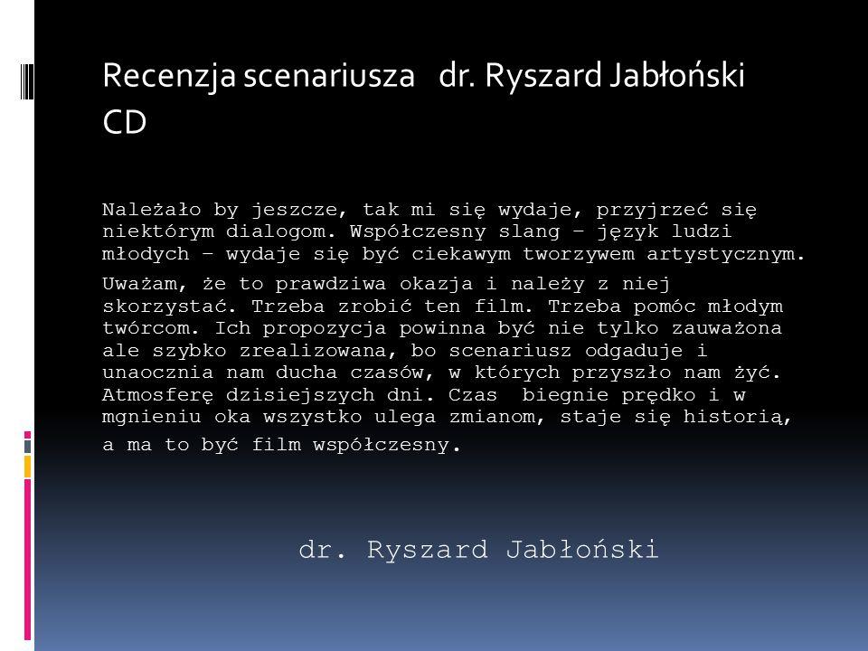 Recenzja scenariusza dr.