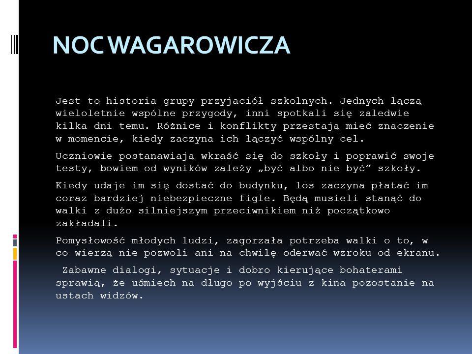 NOC WAGAROWICZA Jest to historia grupy przyjaciół szkolnych.
