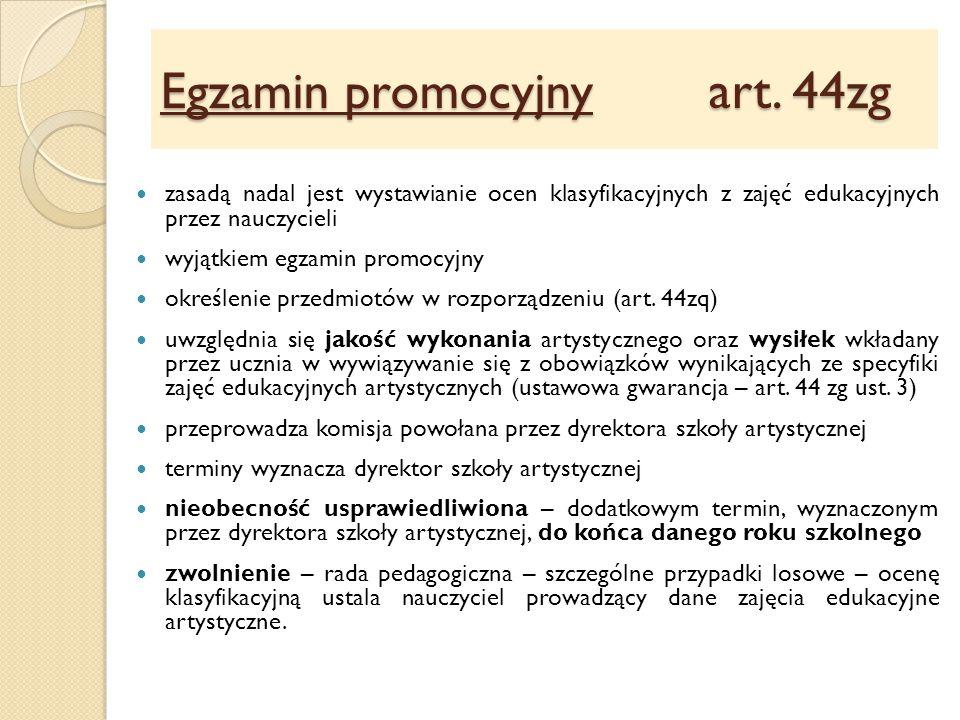 Egzamin promocyjny art.