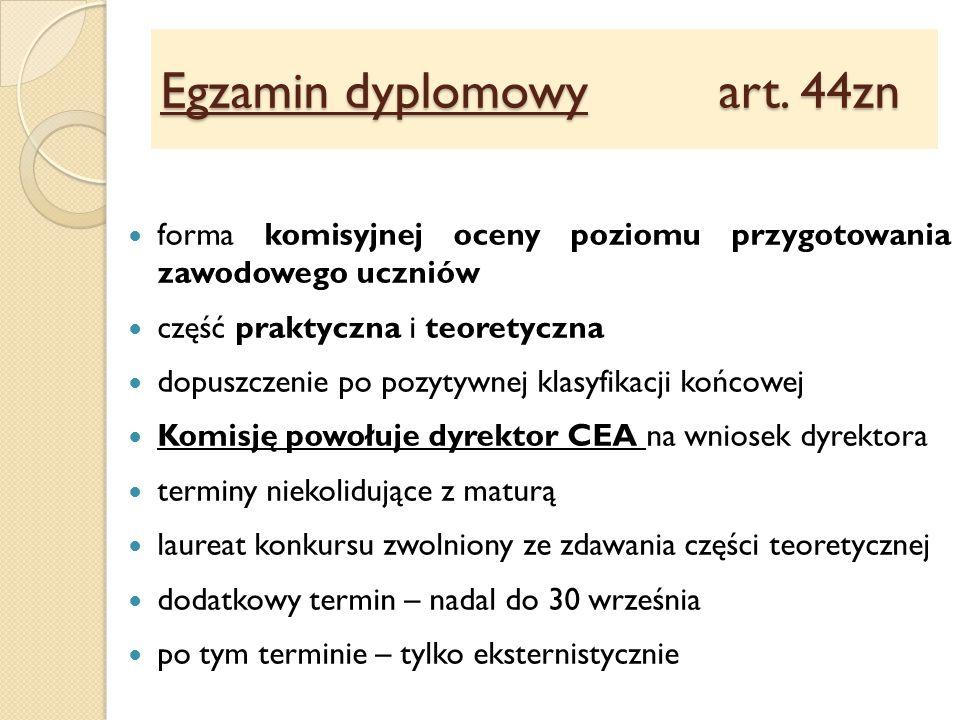 Egzamin dyplomowy art.