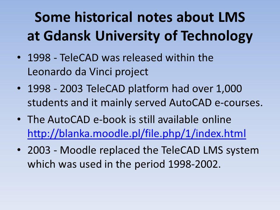 Distance Education Centre at Gdansk University of Technology (Moodle 1.4.4)